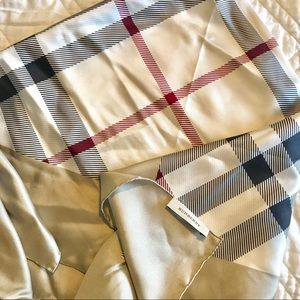 Authentic Burberry square silk scarf ✨
